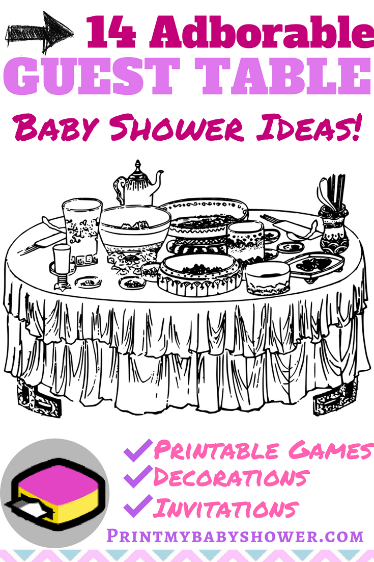 baby shower table ideas print my baby shower rh printmybabyshower com