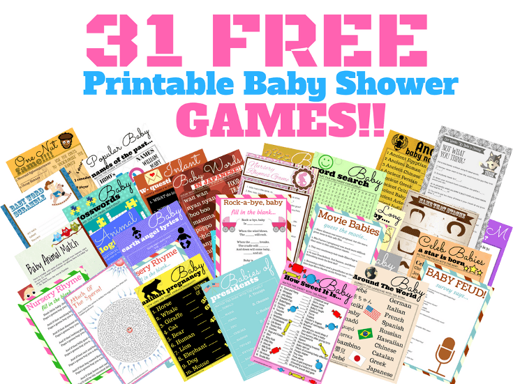 31 Free Printable Baby Shower Games Your Guests Will Absolutely Love