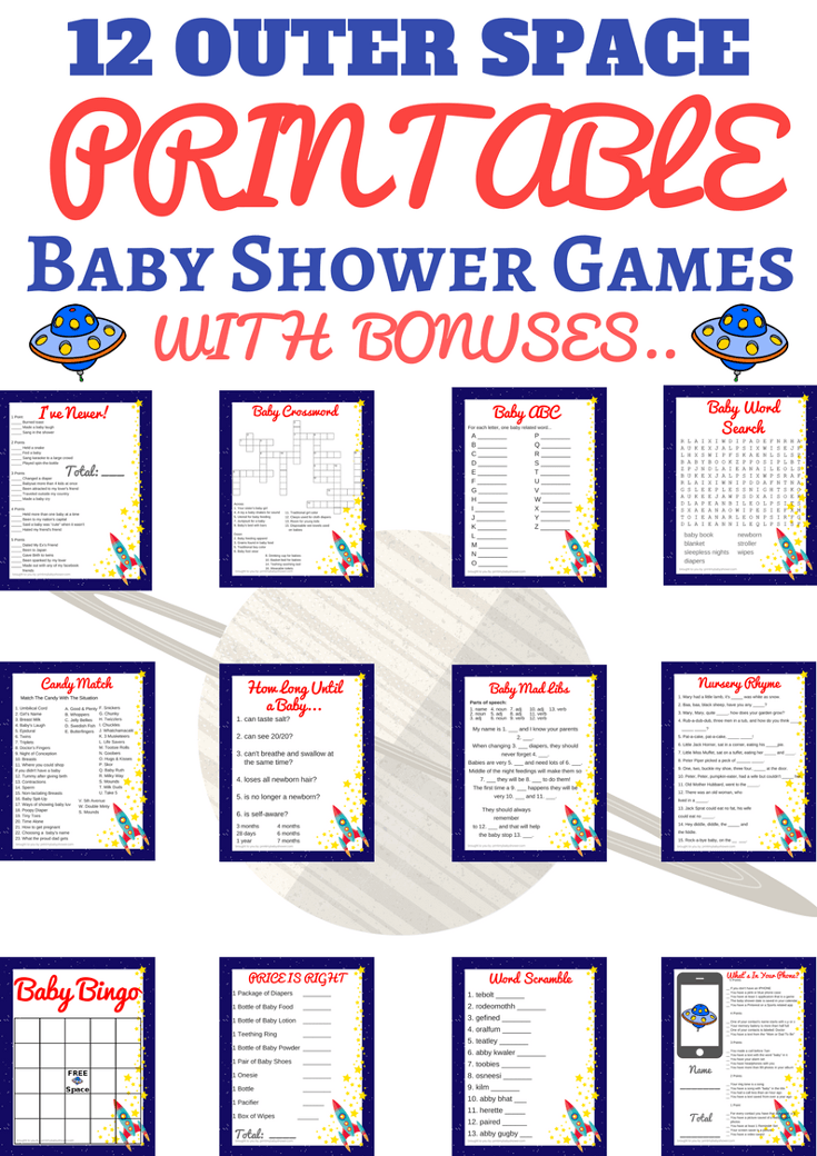 image about Printable Baby Shower named Room Boy or girl Shower Printable Video games